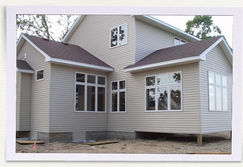 New Home Contruction Four Season Porch